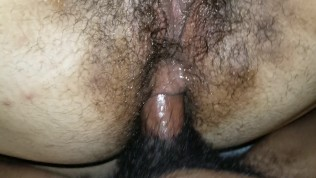 Hairy Mixed BBW Teen's Anal Training by Black Dick